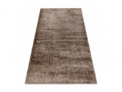 Kusový shaggy koberec FLUFFY Jednobarevný béžový