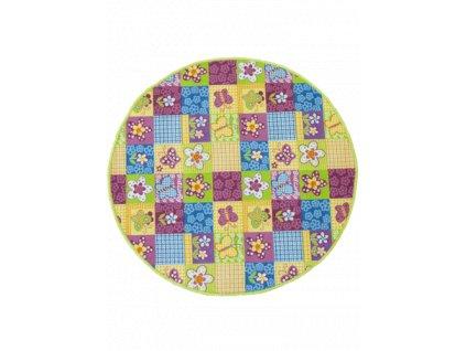Kulatý dětský koberec Butterfly Motýlci