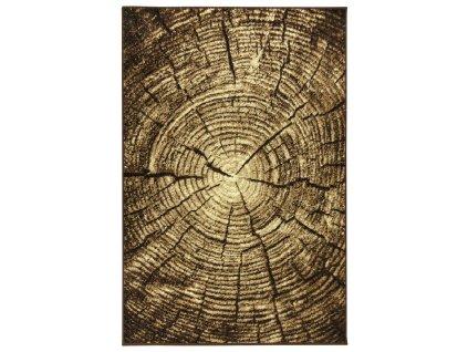 Kusový koberec Gold 267/12 kmen stromu hnědý