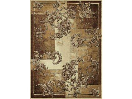 Kusový koberec GOLD 321/12 Hnědý Béžový