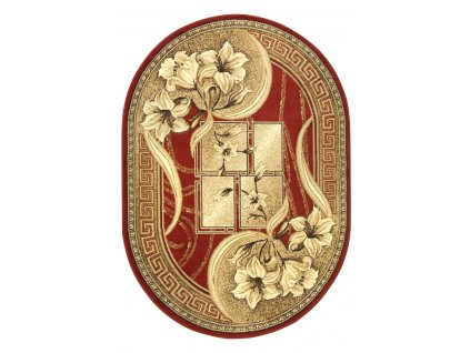 Oválný kusový koberec Gold 365/22 Bordó