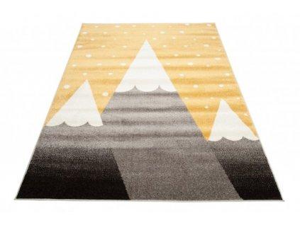Dětský kusový koberec FIESTA 36320/37224 šedý žlutý