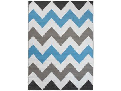 Kusový koberec moderní MAYA Z903B šedý modrý bílý