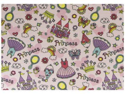 Dětský kusový koberec Princezny růžový