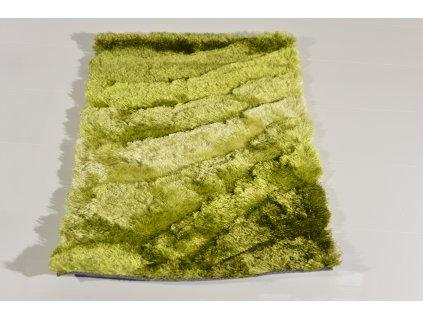 Kusový koberec Shaggy TODA 3D Světle zelený Tmavě zelený4