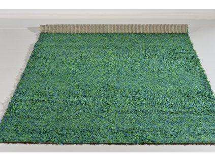 Kusový koberec Shaggy Shaggy Esquire 520/V37 E Zelený Modrý