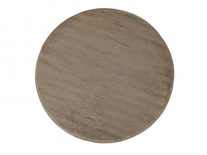 Kulatý koberec jednobarevný Portofino béžový