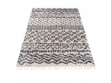 Kusový koberec Shaggy AZTEC FA60B Krémový