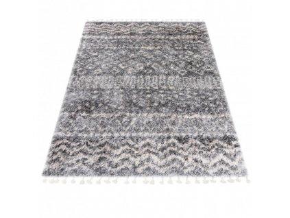 Kusový koberec Shaggy AZTEC FA60A Šedý