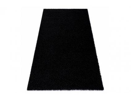 Kusový koberec jednobarevný SOFFI shaggy 5cm černý