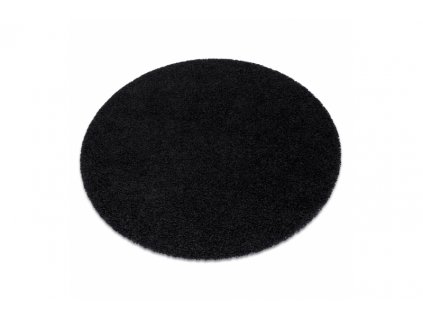 Kulatý koberec jednobarevný SOFFI shaggy 5cm černý