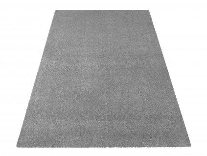 Kusový koberec jednobarevný Portofino šedý