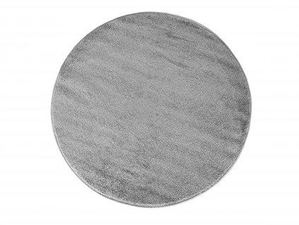 Kulatý koberec jednobarevný Portofino šedý