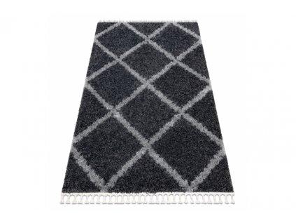 Kusový koberec Shaggy UNION 3482 šedý
