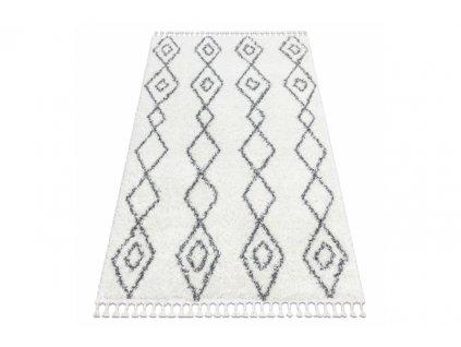 Kusový koberec Shaggy UNION 3374 krémový šedý