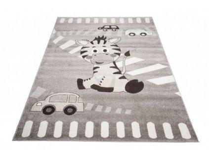 Dětský kusový koberec FIESTA 36211/37122 Oslík šedý