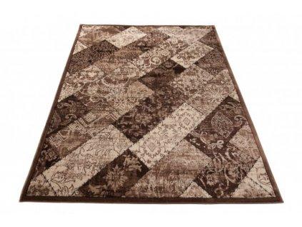 Moderní kusový koberec H005F TANGO Tmavě hnědý