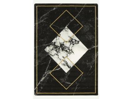 Moderní kusový koberec Diamond K4477G černý zlatý