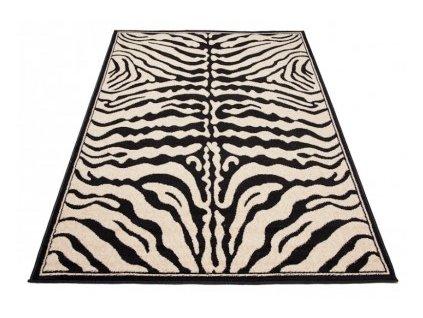 Kusový koberec ATLAS J315B Zebra černý / bílý