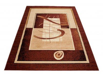 Kusový koberec ATLAS 5118D Hnědý