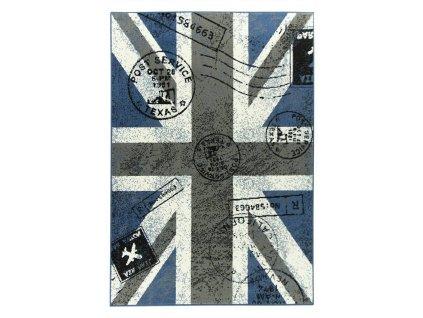 Kusový koberec KIDS 532705/94955 Vlajka modrý / šedý