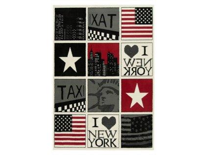 Koberec kusový KIDS 531944/51935 Vlajka USA New York vícebarevný
