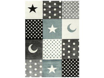 Dětský kusový koberec Pastel Dream 18114/190 šedý
