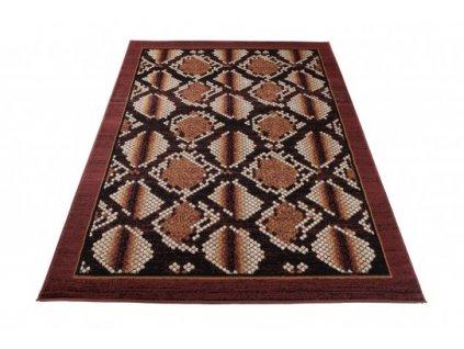 Kusový koberec CHEAP K873A hnědý / černý