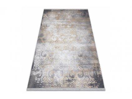 Moderní kusový koberec LUCE 84 Vintage šedý hořčicový