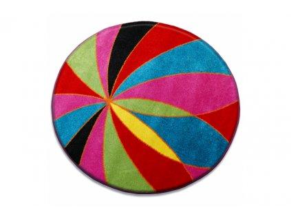 Dětský kulatý koberec PAINT - 1559 blue barevný