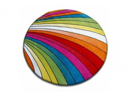 Kusový koberec kulatý PAINT 1560 Barevný