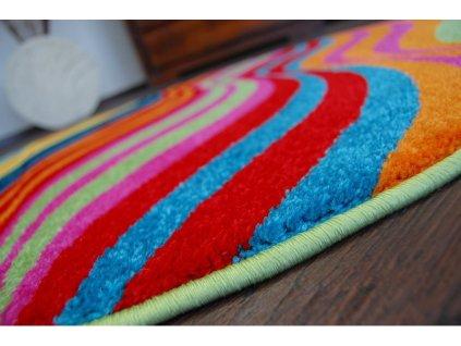 Dětský kulatý koberec PAINT - 1562 blue barevný