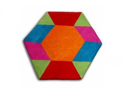 Dětský kusový koberec PAINT - 1550 blue
