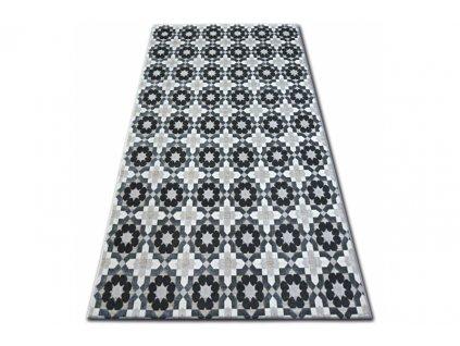 Kusový koberec LISBOA 27206/356 Květy šedý