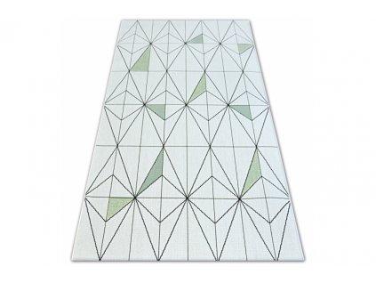 Kusový koberec Sisal COLOR 19447/062 krémový geometrický vzor