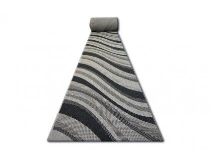 Běhoun Sisal Floorlux 20353 stříbrný černý