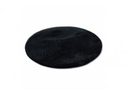 Kulatý koberec SHAGGY MICRO černý