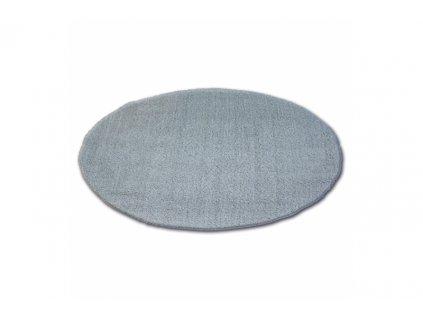 Kulatý koberec SHAGGY MICRO stříbrný