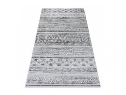 Kusový koberec NOBIS 84245 stříbrný