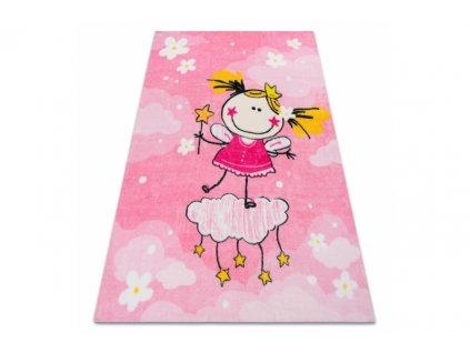 Dětský koberec PLAY holčička růžový