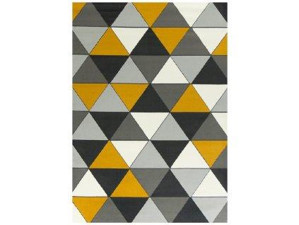Koberec Luna 502902/89925 šedý žlutý
