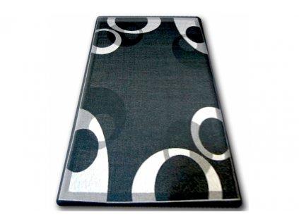 Koberec Sisal Floorlux 20078 černý / stříbrný