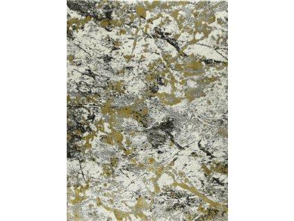 Kusový koberec Home W8490 krémový - žlutý hořčicový