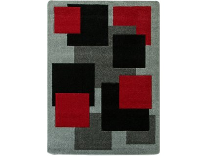 Kusový koberec  Fushe 2041 šedý / červený
