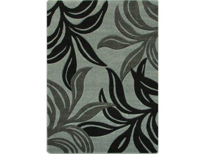 Kusový koberec Fushe 2112 světle šedý / černý