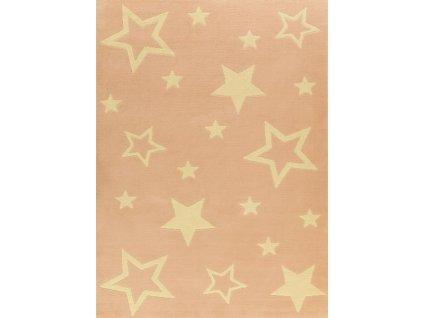 Dětský kusový koberec KIDS 533744/85822 růžový-hvězdy