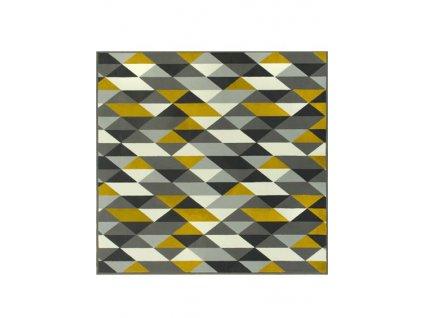 Kusový koberec LUNA 503652/89915 trojúhelníky žluté