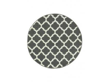 Kulatý koberec LUNA 503402/51911 šedý