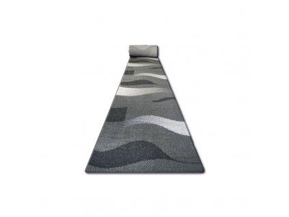 Běhoun Sisal Floorlux 20212 černý / stříbrný