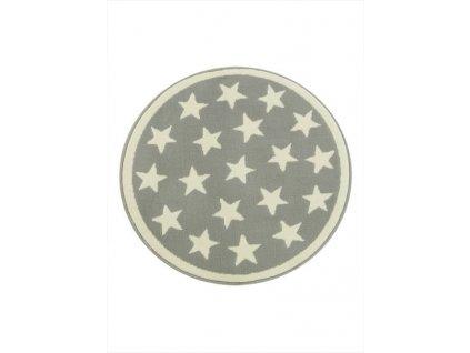 Kulatý koberec LUNA 533909/89933 hvězdy krémový